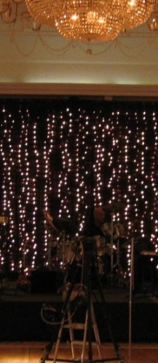 Black backdrop with lights for Band or DJ