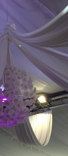 Flower ball drape