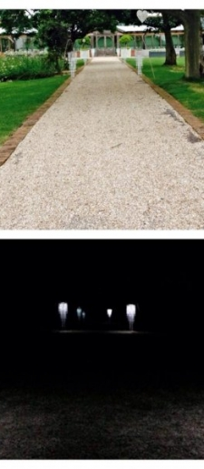 Aisle-crystal-chandeliers-by-day-and-night-with-drop-lights