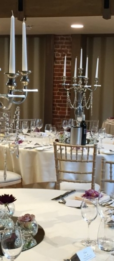 Venetian silver candelabra with ivy 80cm