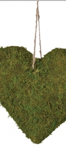 Heart moss chair decor for end aisle chairs or tree decor