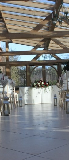 Wicker hearts and Aisle-bows-and-lanterns