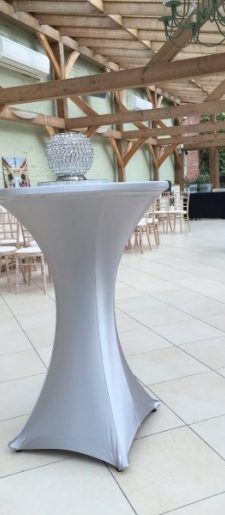 Cocktail-tables-comes in-silver, black. white, gold -stretch-covers