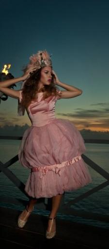 1950s tulle & satin dress POA