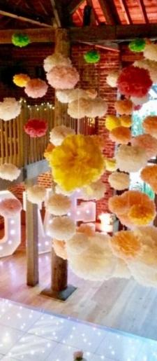 Bespoke-pom-pom-ceiling-decor Gaynes Park