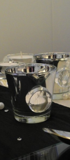 Silver & crystal tea light holder
