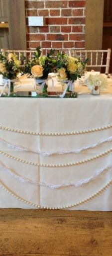 Lace-and-pear-table-decor