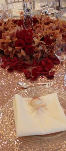 Rose-gold sequin round cloth
