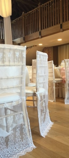 Lace chair half chair cover