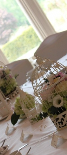 Vintage bird cage center pieces