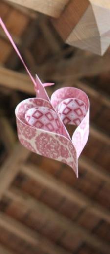 Vintage hanging hearts