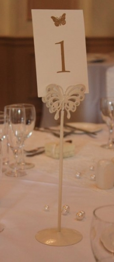 Vintage cream table number holder